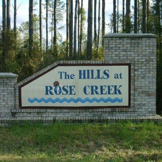 Hills at Rose Creek Sign